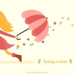 Primavera está aqui fundo