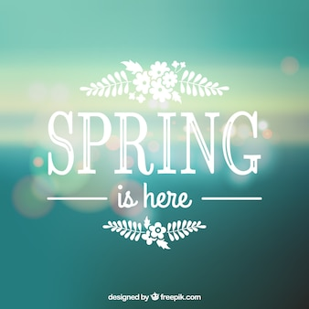 Primavera está aqui