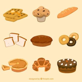 produtos de padaria vector