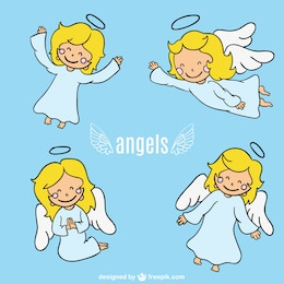 Projeto anjo personagem de desenho animado