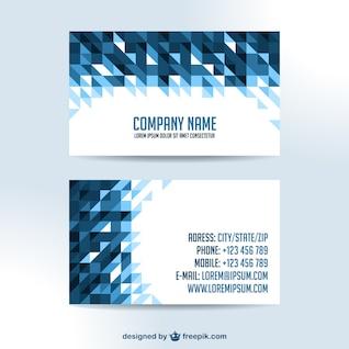 Projeto cartões de visita triângulo