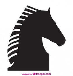 Projeto da silhueta do vetor do cavalo