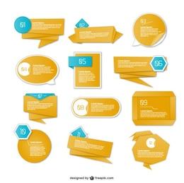 Projeto de origami gráficos informações de apresentação