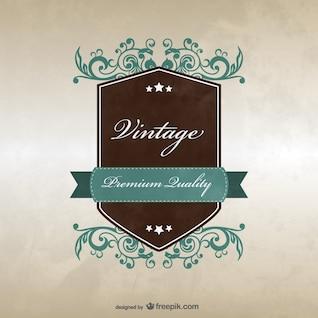 Projeto do molde do emblema do vintage