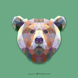 Projeto do urso de triângulo