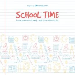 Projeto do vetor tempo escolar