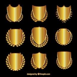 Protetores dourados com grinaldas