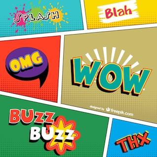 Quadrinhos palavras vector