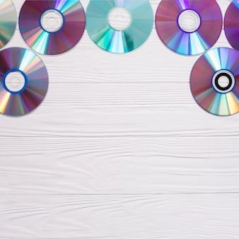 Quadro com discos compactos