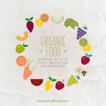 Quadro de alimentos orgânicos