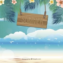 Quadro de Verão na praia