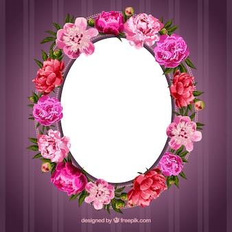 Quadro feito de flores