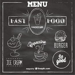 Quadro menu fast food