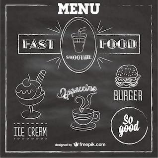Quadro menu fast food