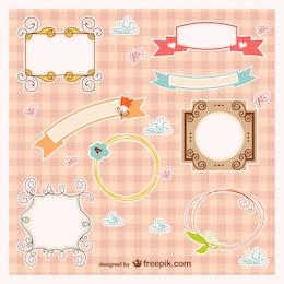 Quadros de bebê e banners vector