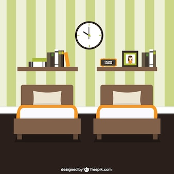 Quarto decoração de móveis