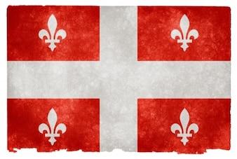 Quebec grunge bandeira vermelha