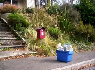 reciclagem de tweed e letterbox