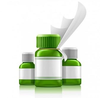 Recipiente médico plástico para comprimidos