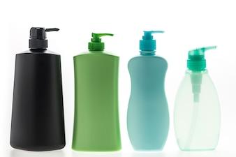 Recipientes de sabonete líquido com diferentes formas