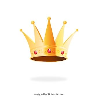 Rei dourado coroa