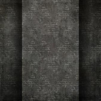 Renderização 3D de um estilo grunge textura de parede de tijolos
