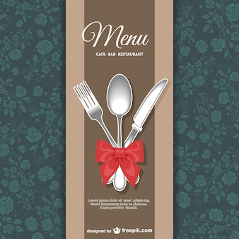 Menu do restaurante design floral