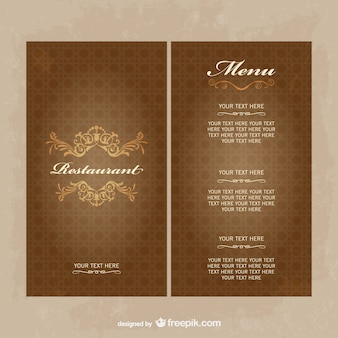 Menu do restaurante vector download livre