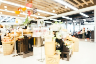 Resumo borrão e supermercado defocused