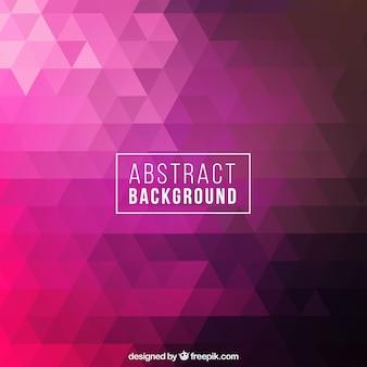 Resumo de fundo com geométrico rosa