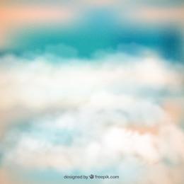 Resumo de fundo de céu nublado