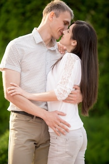 Retrato de beijar casal