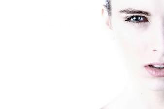 Retrato fêmea face