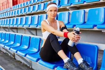 Retrato pessoas ajuste esportivo bastante