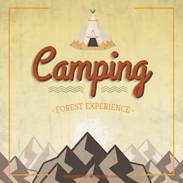 Retro background acampamento