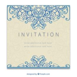 Retro convite no estilo ornamental