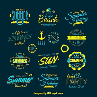 Retro emblemas verão