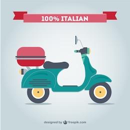 Retro motocicleta italiana free vector