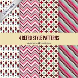 Retro padrões geométricos