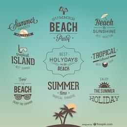 Retro projetos de rotulação de férias