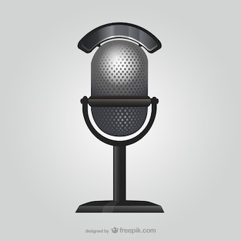 Estilo retro microfone ilustração
