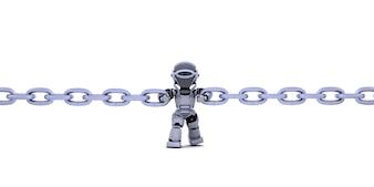 Robô segurando a corrente