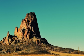 Rocha da montanha do deserto