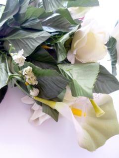 Rosa branca, enfeites