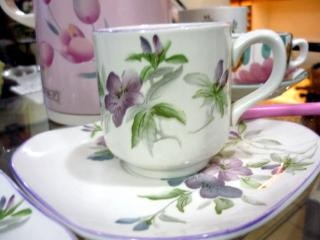 Rosa chá, colher