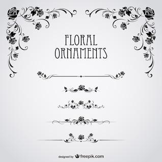 Rosas negras floral vetor
