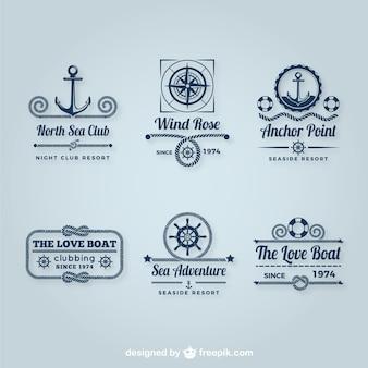 Pacote de logos de vela