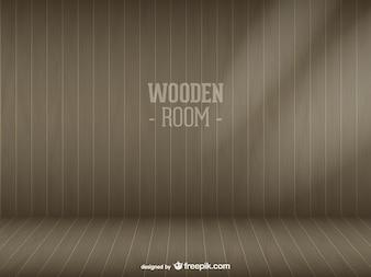 Sala de madeira vector download livre