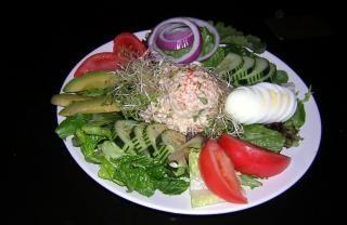 saladas coloridas, pepino