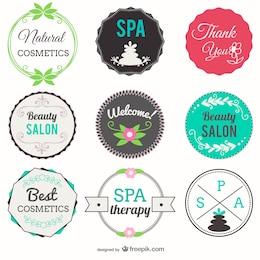Salão de beleza e spa emblemas